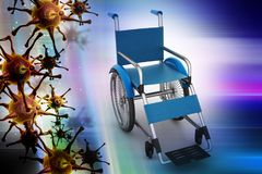 Medical wheel chair. 3d illustration of Medical wheel chair Stock Photography