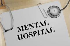 MENTAL HOSPITAL concept Stock Photo