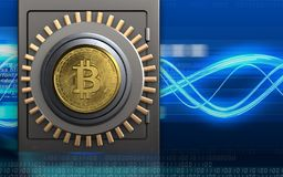 3d safe bitcoin safe Royalty Free Stock Photography