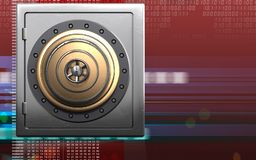 3d safe golden vault door Royalty Free Stock Images