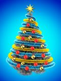 3d tinsel blue Stock Image