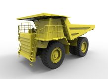 3d illustration of mine vehicle machine, on white background  with shadow. easy to use Royalty Free Stock Image