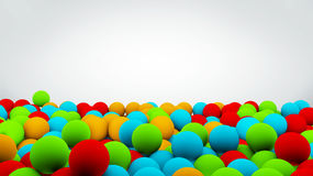 3D illustration of Mixed-color balls background. Colorful plastic balls background Stock Photos