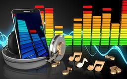 3d audio spectrum notes Royalty Free Stock Photos