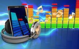 3d notes audio spectrum Stock Image