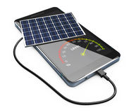 3d Illustration of mobile power pack with solar panels. Royalty Free Stock Images