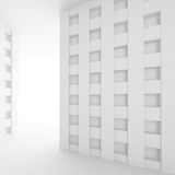 3d Illustration of  Modern Interior Design. Minimal Architecture. Background. White Abstract Shapes. Futuristic Building Construction Royalty Free Stock Image