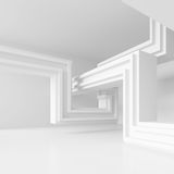 3d Illustration of  Modern Interior Design. Minimal Architecture. Background. White Abstract Shapes. Futuristic Building Construction Stock Photos