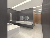 3d illustration of modern restroom Royalty Free Stock Image
