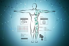 Molecular structure of human body Royalty Free Stock Photography