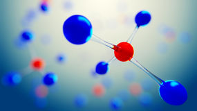 3d illustration of molecule model. Science background with molecules and atoms. 3d illustration of molecule model. Science or medical background with molecules Stock Images
