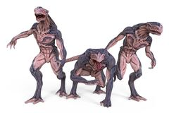 3D Illustration Monsters. 3D Illustration Of A Monsters  on White Stock Photos