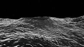 3D illustration of moon surface. With crater Royalty Free Stock Photography