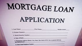 Inventive mortgage loan illustration Royalty Free Stock Photo