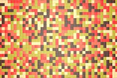 3d illustration: mosaic abstract background, colored blocks brown, red, pink, green, beige, yellow color. fall, autumn. 3d illustration: mosaic abstract Stock Images