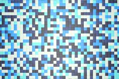 3d illustration: mosaic abstract background, colored blocks white, light and dark blue, turquoise, azure color. Ice winter. Range of shades. small squares Stock Images