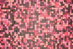 3d illustration: mosaic abstract background, colored pink, red, brown, violet, purple, beige, yellow color. Spring, Sakura, cherry Royalty Free Stock Photo