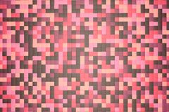 3d illustration: mosaic abstract background, colored pink, red, brown, violet, purple, beige, yellow color. Spring, Sakura, cherry Royalty Free Stock Images