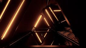 3d illustration motion background design artwork with abstract triangle shape and glowing lights - ideal for science
