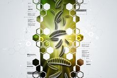 Moving virus in multi color background. 3d illustration of Moving virus in multi color background Royalty Free Stock Photos