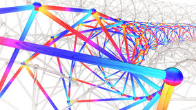 3D illustration of multi section engineering structure Stock Images