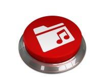Music Folder Icon. 3d illustration of Music Folder icon Royalty Free Stock Photos