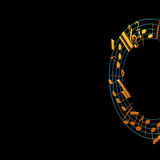 3d illustration of musical notes Royalty Free Stock Photography