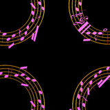 3d illustration of musical notes Stock Photo