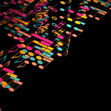 3d illustration of musical notes Stock Images