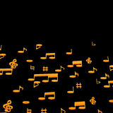 3d illustration of musical notes Royalty Free Stock Photos