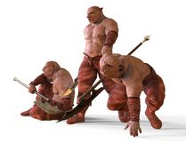 3D Illustration Of A Mutants Monsters Isolated on White Stock Photos