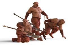 3D Illustration Of A Mutants Monsters Isolated on White Stock Images