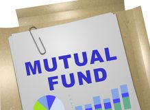 MUTUAL FUND concept. 3D illustration of MUTUAL FUND title on business document Stock Image