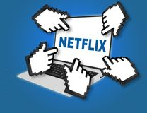 NETFLIX - media concept vector illustration