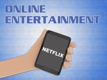 NETFLIX - multimedia concept royalty free illustration