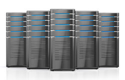 3D illustration of network workstation servers. Royalty Free Stock Photography
