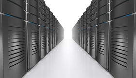3D illustration of network workstation servers. Royalty Free Stock Photos