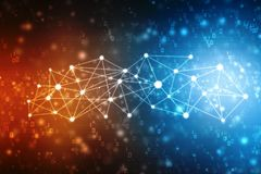 2d Illustration Netz-Gemeinschaftskonzept Gemischte Medien, Network Connection Konzept Lizenzfreies Stockfoto