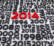 3D Illustration - 2014. New year Vector Illustration