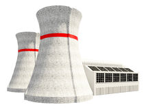 3D Illustration of Nuclear power station Royalty Free Stock Photos