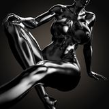 3D illustration Of Nude Woman Body Stock Images