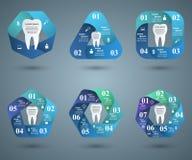 3D illustration numérique abstraite Infographic Icône de dent Photo libre de droits