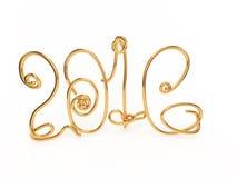 2016 3D illustration. Number of years gold figures on a white background 3D illustration vector illustration
