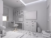 3d illustration of a nursery for a boy Stock Photo