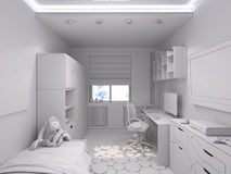 3d illustration of a nursery for a boy Royalty Free Stock Photography