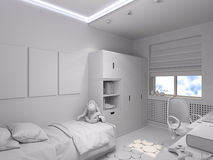 3d illustration of a nursery  for a boy Stock Images