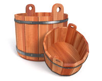 3d illustration objects for a sauna Stock Photos