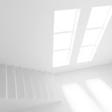 3d Illustration od Interior Design. White Room with Window. Abstract Architecture Background Royalty Free Stock Photography