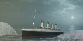 3d illustration old cruise liner Stock Images
