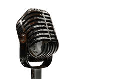 3d illustration old rusty microphone on a white Royalty Free Stock Image